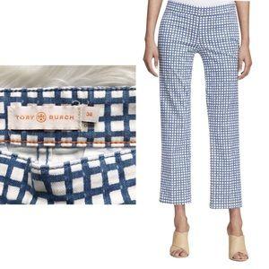 Tory Burch Pants - Tory Burch Blue Haven Canvas Plaid Pants